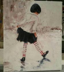 Girl in the stripy socks by StrandedAutumn