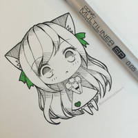 Neko Chibi by strawberrycake
