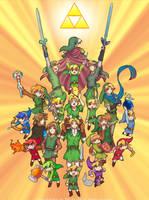 The Legend of Zelda 30th anniversary by Zelbunnii