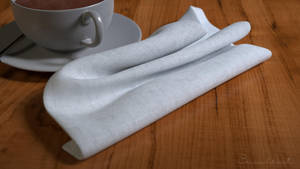 Teacup Still Life - Napkin Closeup by polygonbronson