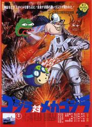 Pepe Vs Hunter (Godzilla Vs MechaGodzilla) by carlos52302