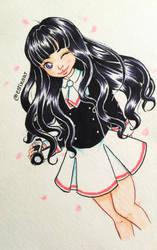 Tomoyo | Sakura Card Captor Clear Card by EstixArt