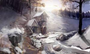 Secret Winter Glade by Robjenx