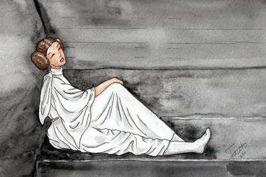 Leia In Prison by LaFoi