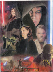 Star Wars Revenge of the Sith Sketch Card by TRENTBRUCE