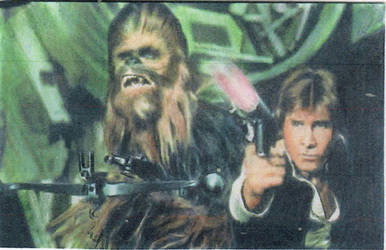 Star Wars Han Solo and Chewbacca Sketch Card by TRENTBRUCE