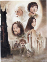LORD OF THE RINGS SKETCH CARD on ebay until 5/19 by TRENTBRUCE