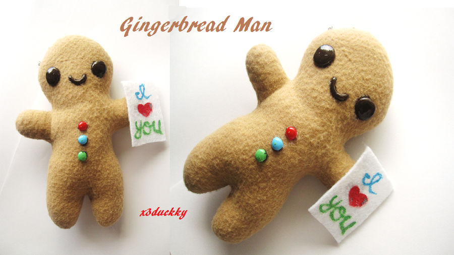 Gingerbread Man Plush By X3duckky On Deviantart