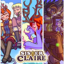 sister Claire art piece by alonzonich