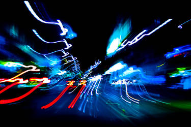 light trails in melbourne.. by thespook