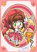 20140729 - Sakura Kinomoto and Kero-chan by nekoiichi