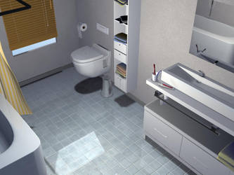 3D Exam: realistic bathroom by QuentinGG