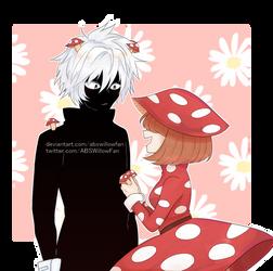 ~ART TRADE~ Kuroiro and Kinoko by ABSWillowFan