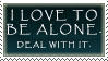 To be alone stamp by Infernal-Feline