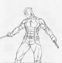 Deadpool Concept 1 by birdinblack