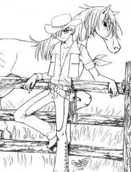 Cowboy Syaoran xD by LucyMeryChan