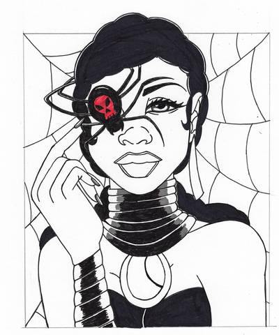 Afrotober-Spider-witch by ebony-chan