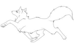free  lineart wolf by Malaika4