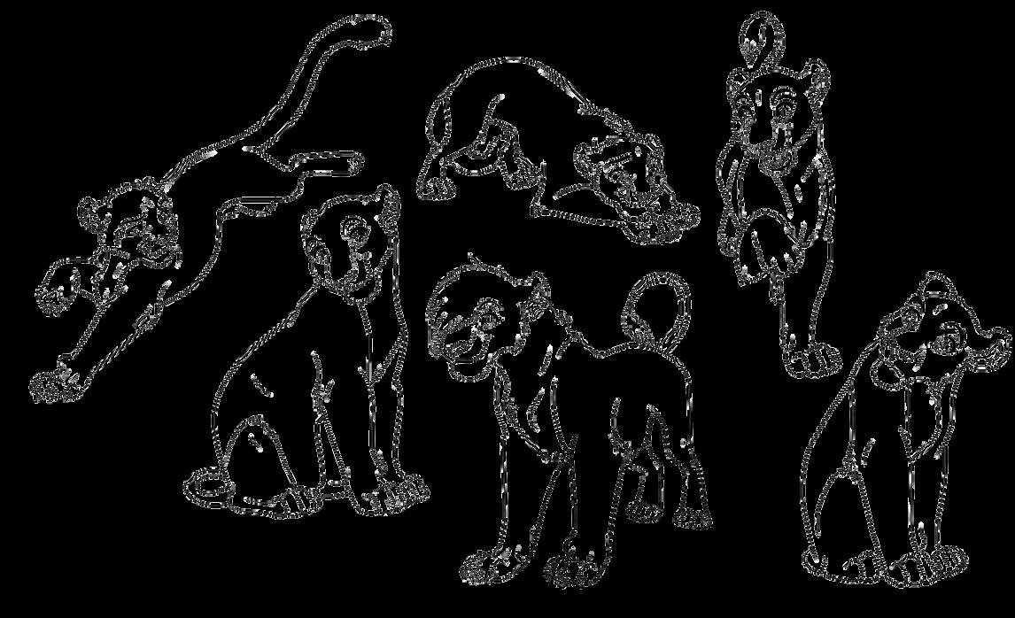 Free lineart-cub's by Malaika4