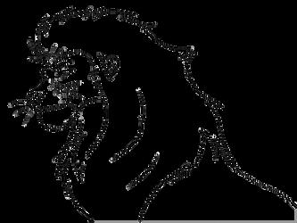 Free lineart -head male lion by Malaika4