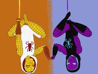 Spiderdye and Golden Weaver by AllAboutFnaf
