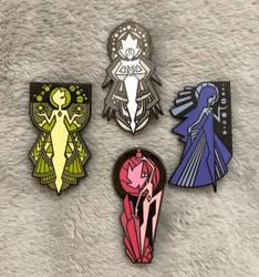 Diamond Authority Pins! by PurrV