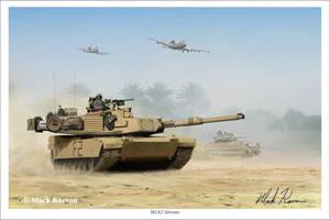 M1A2 Abrams by markkarvon