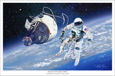 America's First Space Walk - Gemini IV by markkarvon