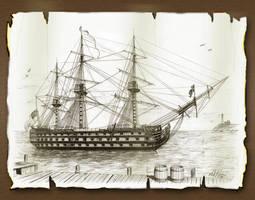 HMS Victory by markkarvon