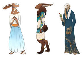 Medieval Bunny Adoptables [CLOSED] by suncalf