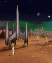 First Spaceship On Venus. by Caz747