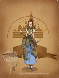 Disney steampunk: Belle by MecaniqueFairy