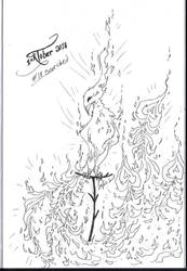 INKTOBER 2018: #18 Scorched by MecaniqueFairy