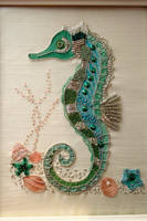 Seahorse embroidery by StitchingDreams