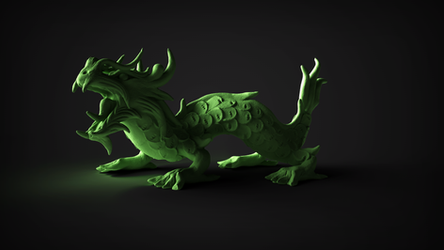 Dragon render by tokfrans
