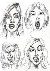 Extreme Female Faces by ChuckBarrow