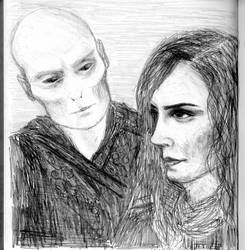 Voldemort and Hermione by ansketil