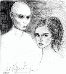 Hermione and Voldemort by ansketil