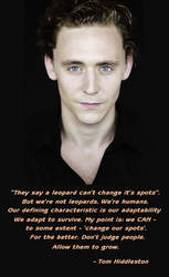 Tom Hiddleston on Human Adaptability by LadyofMisrule
