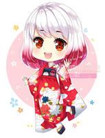 Commission - Kimono Girl by kawaiimiu