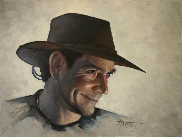 Self Portrait For Quick Paint Demo by thomsontm