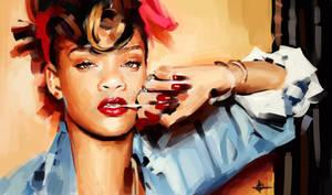 Rihanna by mickehill
