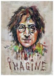 John Lennon Tribute #1 by mickehill