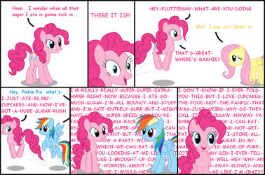 Pinkie Pie's Sugar Rush by SalaComMander
