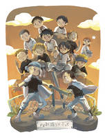 [Oofuri] Nishiura team!! by Viridilly