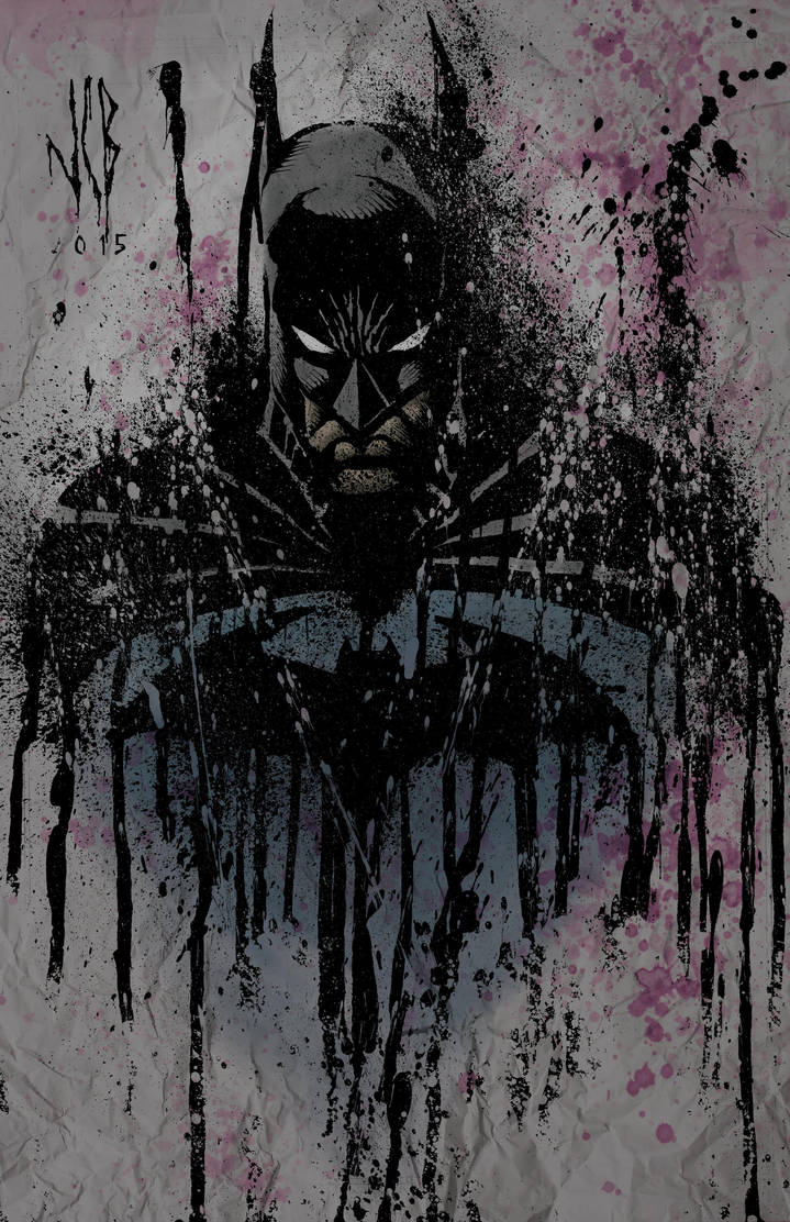 batman splatter by WOLVERINE76