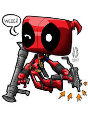 chubbies deadpool by WOLVERINE76