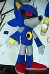 Mecha Sonic plush by LoopyWolf