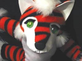 TigerFox Plushie by LoopyWolf
