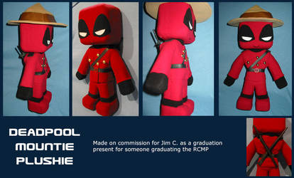 Deadpool RCMP Plushie by LoopyWolf